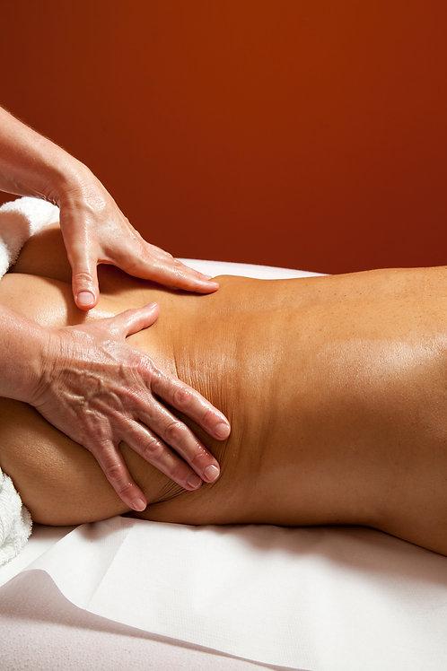 Bon cadeau Massage Californien à domicile. 1 Abonnement de 3 x 1 heure