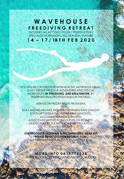 Wavehouse Freedive Retreat 14 to 18 FEB