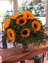 All round sunflower arrangement