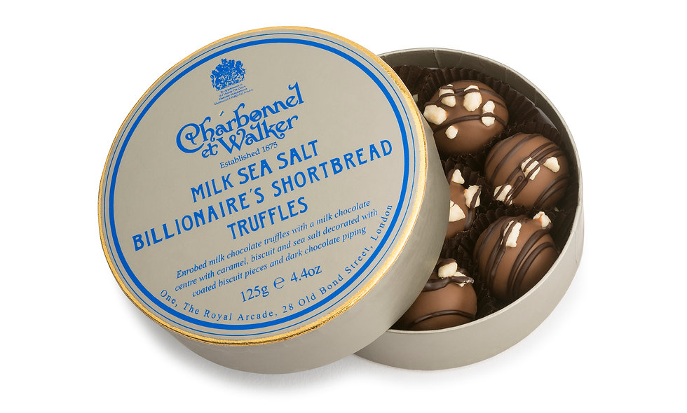 Milk sea salt Billionaires shortbread truffles