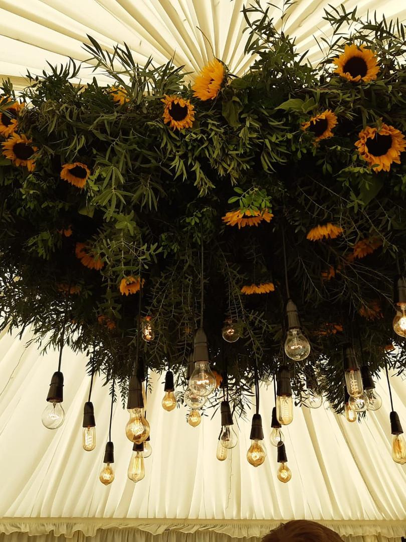 Sunflower ceiling centrepiece