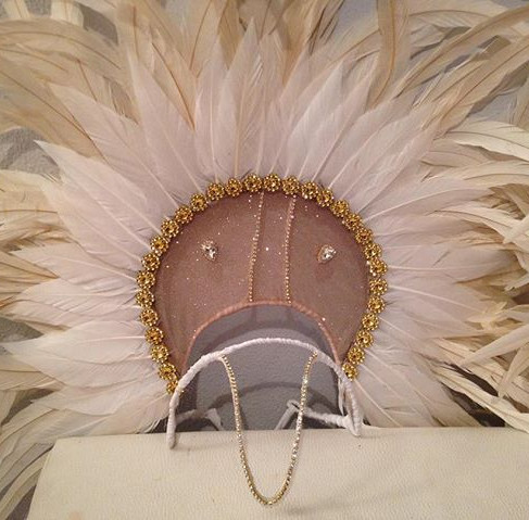 Close up of the headpiece that made a su