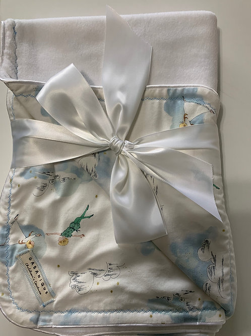 Peter Pan Themed Blanket in Blue