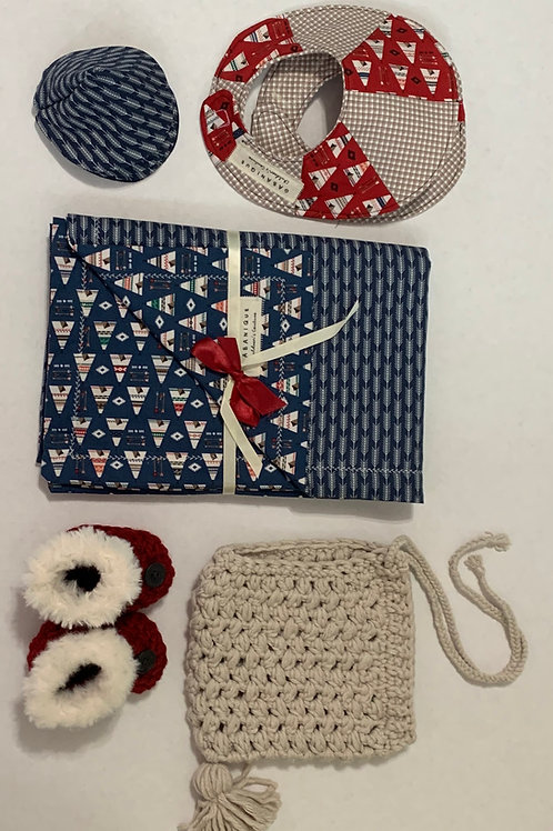 Layette Navy and Red Tent and ArrowThemed