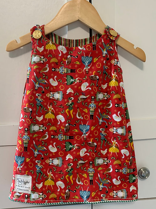 Reversible  Holiday Dress + Tights + Dolls