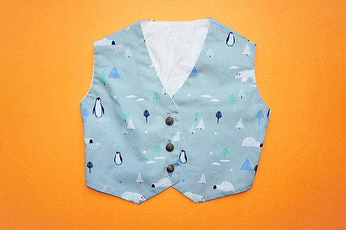 Boys Icy Penguins Waistcoat [Size 12 mths]