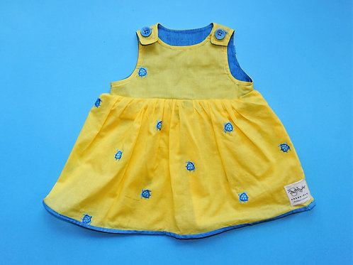Girls Yellow and Blue Turtle Dress