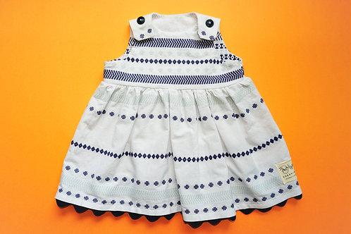 Girls White and Blue Dress