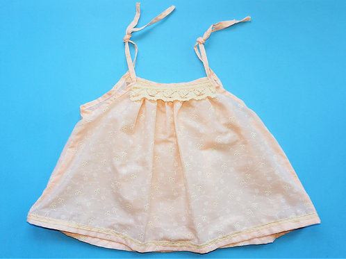 Girls Swing Top - Peach Coloured Floral -