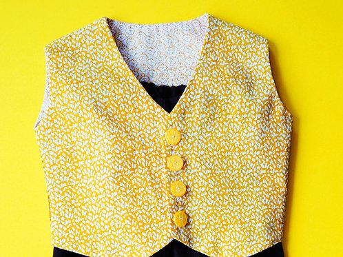 Boys Autumn Yellow Waistcoat [Size 12 mths]