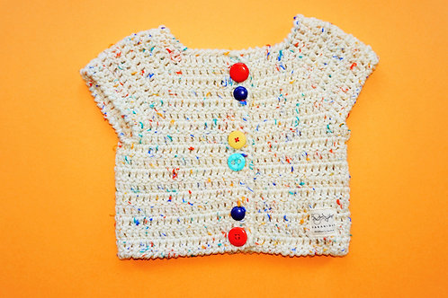 Unisex  Multi Coloured Cardigan with large buttons