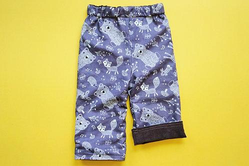 Unisex Reversible Pants -Taupe-Grey Bears -