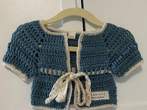 Unisex Kimono Style Cardigan Slate Blue