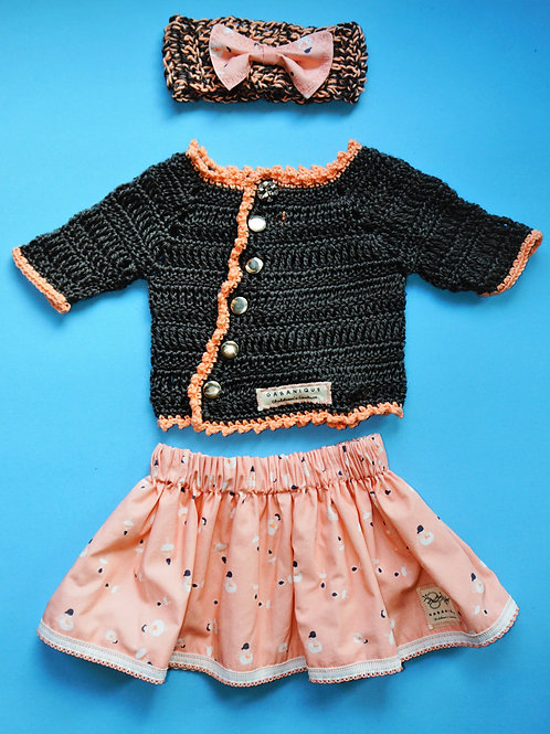Girls Sweater and Skirt with Matching Headband