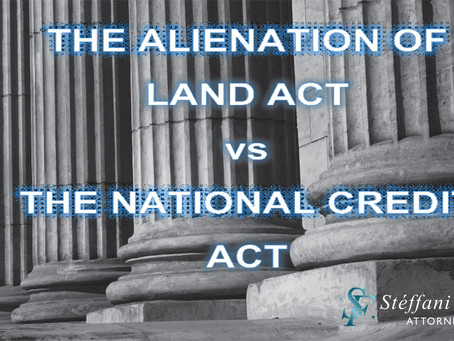 THE LINK BETWEEN THE SALE OF LAND ON INSTALLMENTS AND THE NCA