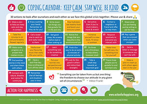 coping calendar covid19 pandemic social emotional learning la jolla
