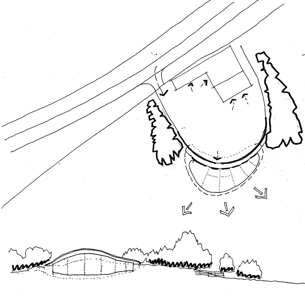 Architect sketch of para79 house in North Yorkshire