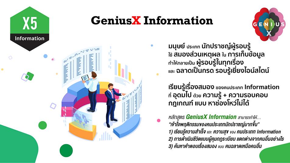 X5 GeniusX Information.png