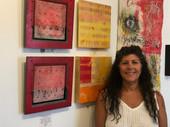 Sherrie Posternak in her studio