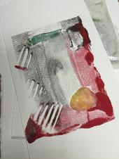 Student's Encaustic Monotype