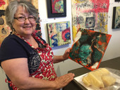 Madeline at Intro and Intermediate Encaustic