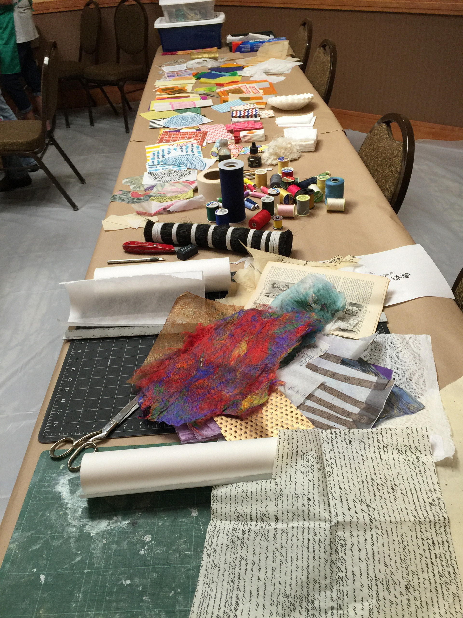 Prepping for Paper Collage with Encaustic