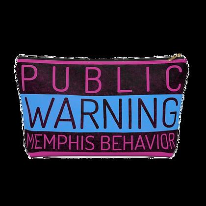 """""""Memphis Behavior"""" Pink Accessory Pouch"""