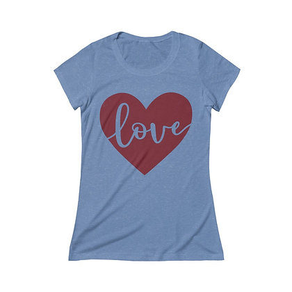 """Hearts & Love"" Women's Tri-blend Tee"
