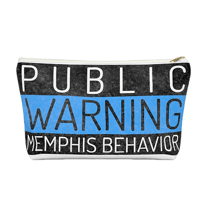 """Memphis Behavior"" White Accessory Pouch"