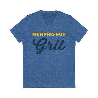 """""""Memphis Got Grit"""" V-Neck Tee"""