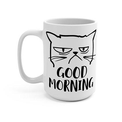 """Good Morning"" White Mug - 15oz"