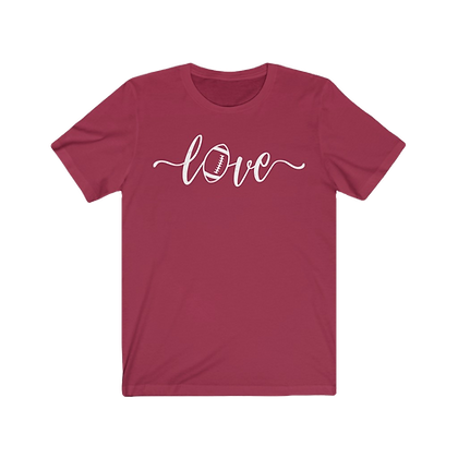 """Love Football - Maroon & White"" Tee"