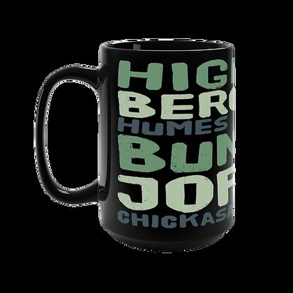 """Green - East Memphis"" Black Mug - 15oz"