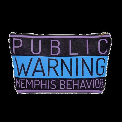 """""""Memphis Behavior"""" Purple Accessory Pouch"""
