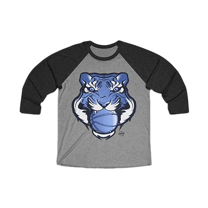 """Go Big Blue"" Tri-Blend 3/4th Sleeve Raglan Tee"