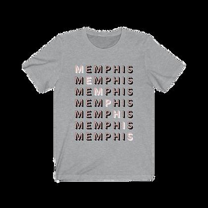"""Memphis"" Pink Tee"
