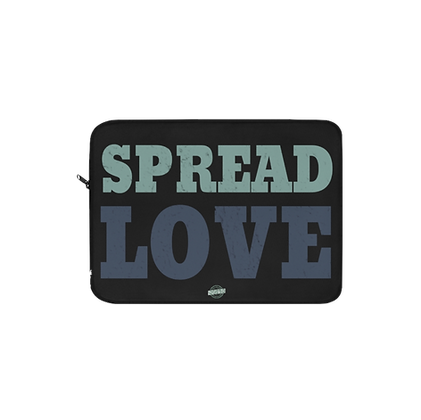 """Spread Love - Blue/Green"" Laptop Sleeve"