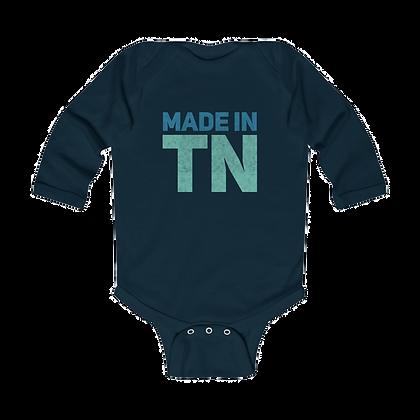 """""""Made in TN"""" Long Sleeve Onesie"""