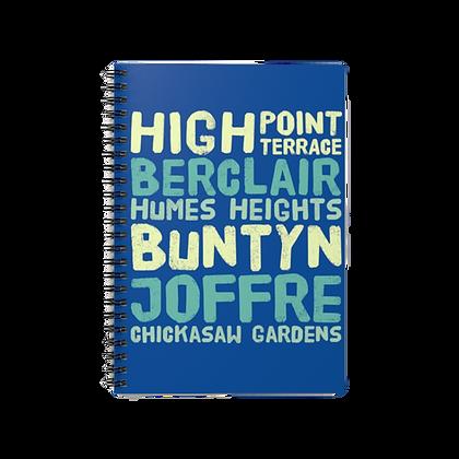 """Blue - East Memphis"" Spiral Notebook - Ruled Line"