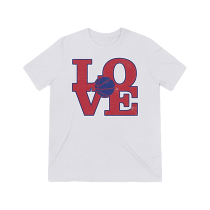 """Basketball Love - Rebels"" Tri-blend Tee"