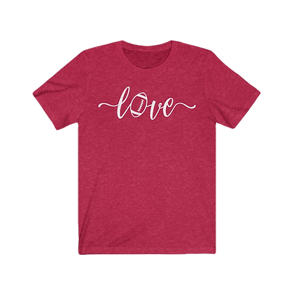 """Love Football - Red & White"" Tee"