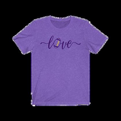 """Love Football - Purple & Gold"" Tee"
