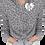 "Thumbnail: ""Love"" Leopard Zipped Collar Sweatshirt"