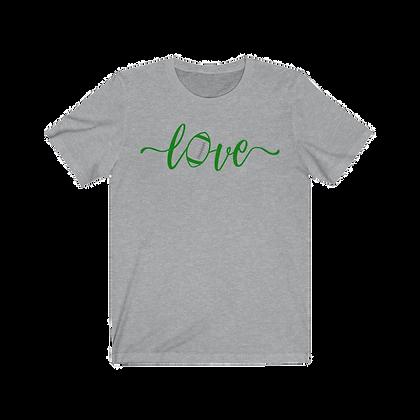 """Love Football - Green & White/Gray"" Tee"