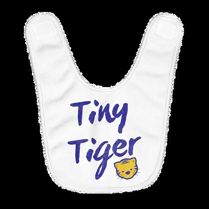 """Tiny Tiger"" Fleece Baby Bib"