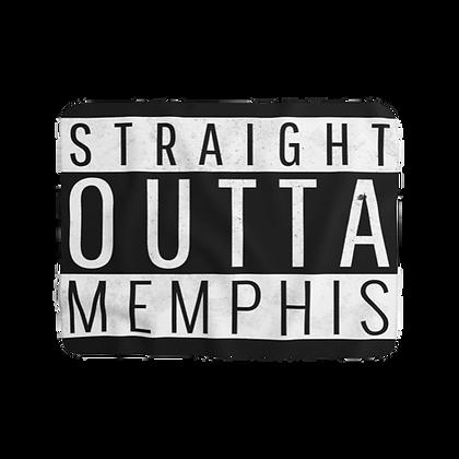 """""""Straight Outta Memphis"""" Sherpa Fleece Blanket"""