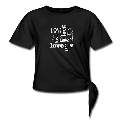"""""""Love Typography"""" Women's Knotted T-Shirt"""
