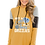 """Thumbnail: """"Girl Who Loves Grizzlies"""" Women's Color Block Patchwork Hoodie"""