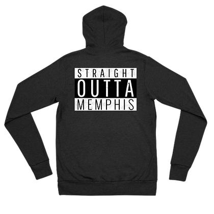 """Straight Outta Memphis"" Zip Hoodie"