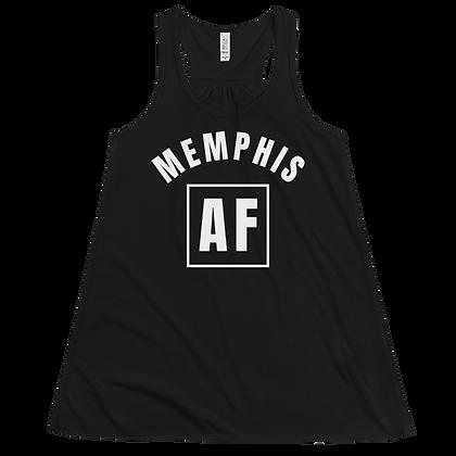 """Memphis AF"" Women's Flowy Racerback Tank"